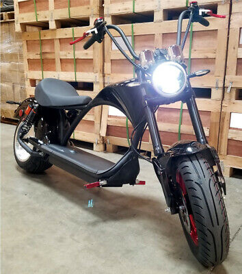 NEW 2000W 60V 20AH Electric Fat Wide Tire Scooter Chopper Harley Style CityCoco Harley Style Scooter