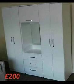 White Vanity wardrobe Fitment for only £200