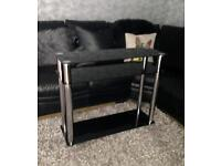 Black Glass Side Unit/Console Table