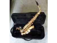 Jupiter Student Alto Sax with case and 2 mouthpieces