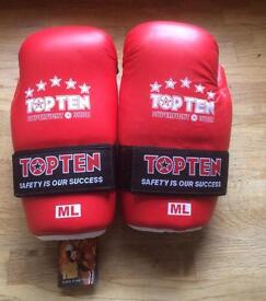 Top ten super fight 3000 kick boxing sparring gloves brand new in bag