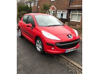Peugeot 207 Red Alloys DVD Player only 72000 miles