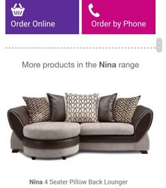 *4 seater DFS lounger L sofa*