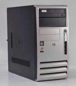 WINDOWS XP HP DX5150 AMD ATHLON DUAL CORE TOWER PC COMPUTER - 1GB RAM - 160GB