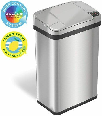 iTouchless 4 Gallon Sensor Trash Can with Odor Filter and Fragrance, Touchless