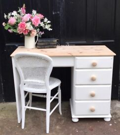 Solid Pine Desk with Chair / Dressing Table