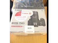 Canon 750d +18-55mm lens kit brand new unopened