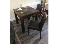 Next extendable dining table and chairs