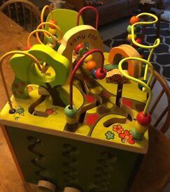 children's zany zoo activity cube