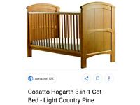 Cot bed whit matters