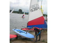 Topper Sailing Dinghy and launching trolley - centrally rigged for racing