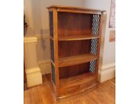 Solid Indian Oak and Cast Iron Bookcase / Shelving Unit. Very Best Quality Hand Made Piece