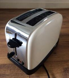 Russell Hobbs Toaster 2 Slice Cream Chrome