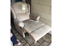 Sherborne two seater settee with matching recliner