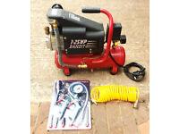 Clarke Bandit Air Compressor. 1.25 hp 8 Litres. 4.5CFM