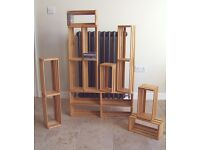 10 HMV CD shelving racks crates stacks storage portable untreated wood