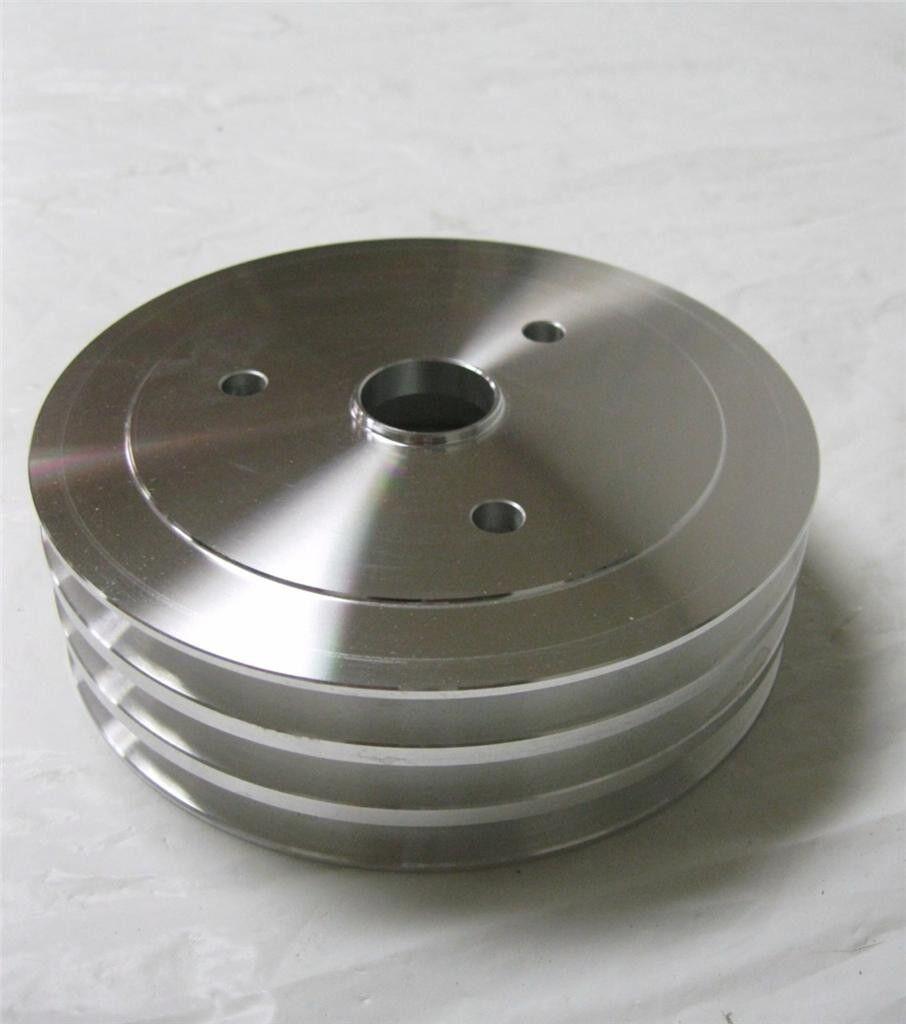 SB Chevy Aluminum 3 Groove Crankshaft Pulley SBC 350 Crank