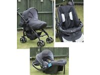 Silver Cross Travel System - Push chair, pram and car seat