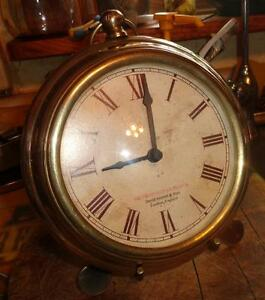 Brass clock with stand