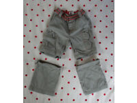Early Days khaki/red detail combat trousers/shorts. 18-23 mths/86 cms.