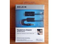 New & Sealed BELKING iPHONE iPhone Headphone Adapter with Microphone