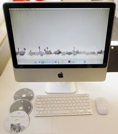 "20"" Apple iMac, 2.66GHz core duo, 4GB DDR2 memory, 500GB hard-drive, DVDRW drive, OSX Lion"