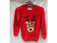 Girls Young Dimension Christmas jumper Years 7-8. Excellent condition