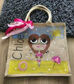 Personalised Jute bags & school book bags