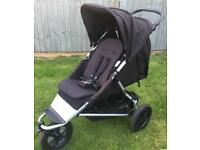 Mountain Buggy +one single to double all terrain pushchair