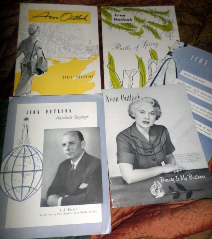 Avon Outlook Magazines in the Year 1954 13 Magazines Ephemera Scrapbooking