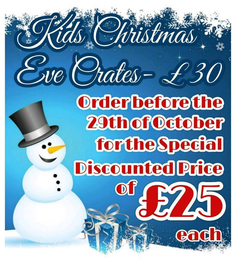 🎅 KID'S FILLED CHRISTMAS EVE CRATES 🎅