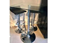 JOHN LEWIS BAR STOOLS & TABLE DINING BISTRO SET