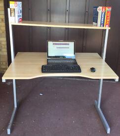 Large Adjustable Computer Work Station