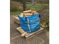 Firewood: Dumpy sack of softwood off-cuts.