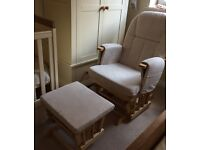 Mothercare nursing chair and footstool