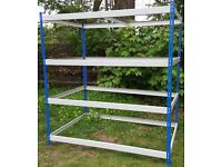 Racking, Heavy Duty 1830h x 1830w x 1220d with 4x chipboard shelves