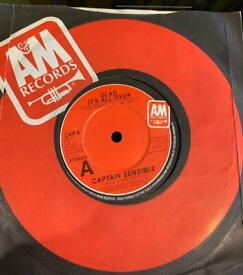 Captain sensible glad it's all over AA side 7 inch