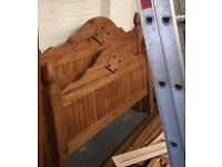 ** PINE DOUBLE BED IN GOOD CONDITION **