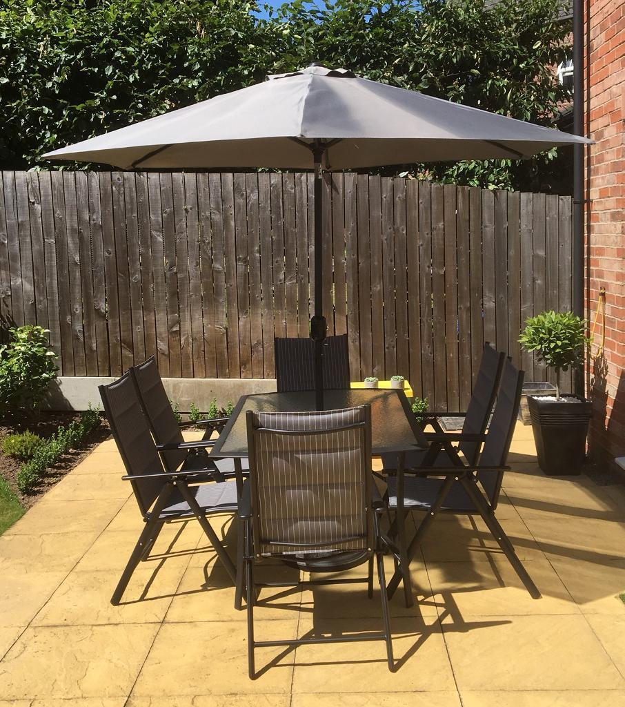 6 Seater Garden Patio Table Chairs