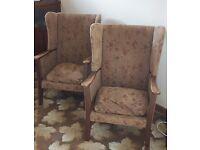 2 1950 armchair vintage retro