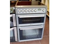 60cm Hotpoint Ceramic Top Cooker, Double Oven/Fan Assisted - 6 Months Warranty