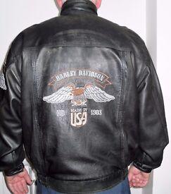 Harley Davidson Leather Bikers Jacket