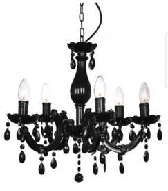 Black chandelier light fitting
