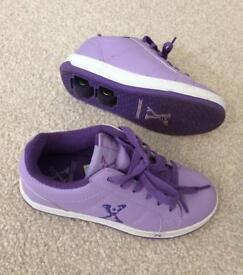 Wheeled skate shoes, UK size 3