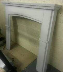 Solid hardwood fire surround