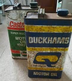 Oil Cans Duckhams & Castrolite
