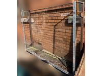 Large Painted Galvanised Steel Frame with glass balconette - USED