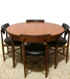 G plan teak fresco table and chairs