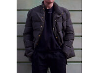 MENS PUFFER JACKET - WAXED COTTON