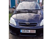 Toyota Corolla 1.6 2006 5 Door BLACK Colour collection £1250 ONO GREAT RUNNER 1 OWNER FSH